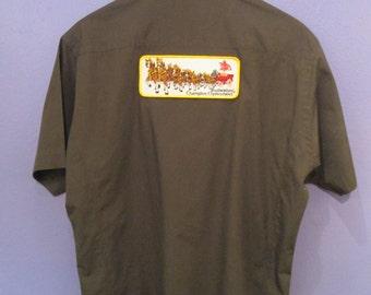 Budweiser Men's Button Down Beer Shirt Size L