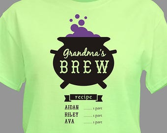 Personalized Witches Brew T-Shirt Custom Name Gift