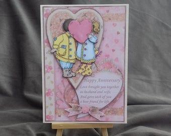 Cute handmade anniversary card