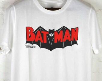 BATMAN - Adam West Era 1966 Vintage Reprint, White T-shirt