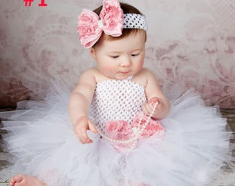 Newborn Baby Girls Tutu dress and Headband Photo Photography Prop Outfits