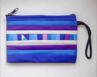pouches and coin purses BLUE and PURPLE colorful small bag Zipper clutch wallet phone case