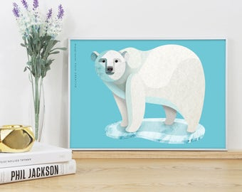 Polar Bear Graphic Print