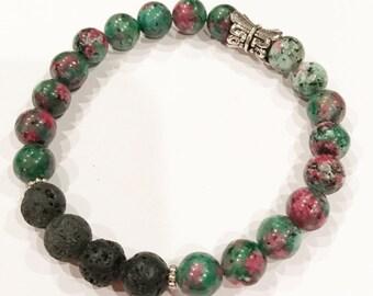 Jade Splash stackable Essential Oil Diffuser Bracelet