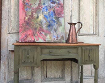 Painted Oak Console / Desk - SOLD