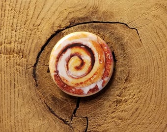 "Cinnamon Bun (1-1/4"" Pinback Button)"