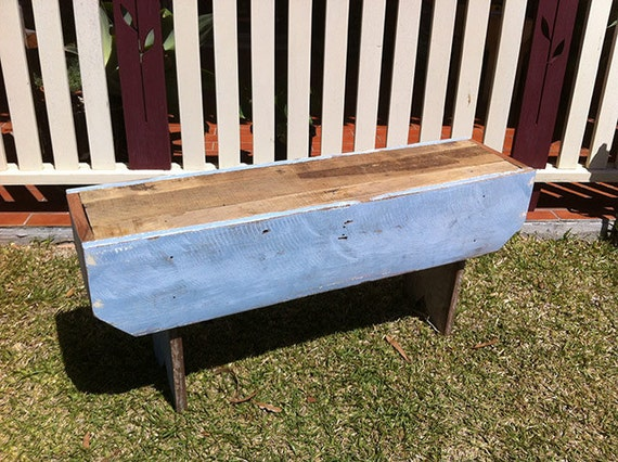 Rustic Recycled Timber Schoolhouse Bench