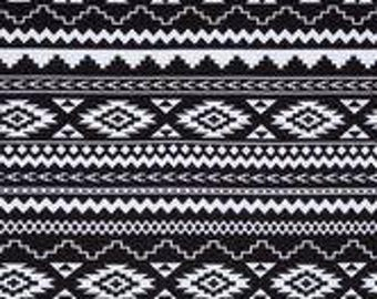 Baby Wrap/ Carrier - Black and White Aztec Print