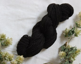 Type DK wool yarn - Pure wool black of Velay