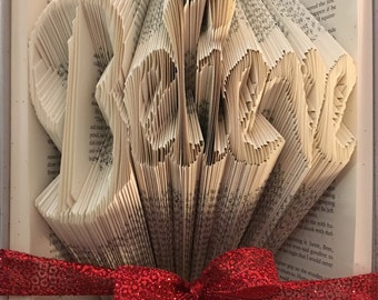 Folded Book Art- Believe