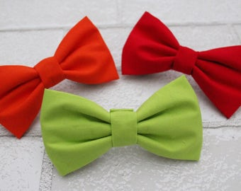 Bright, Solid Dog Bow Ties