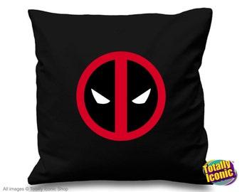 Deadpool - Pillow Cushion Cover - Comic Book Hero Inspired character - Wade Wilson, Marvel Comic Heros, Great Christmas Gift!