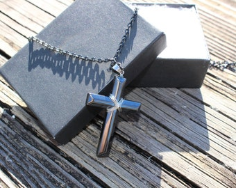 Gift for Him|Man's Cross Necklace/Present for Man|Man's Gift necklace|Gift for Husband|Men's Jewelry Gift