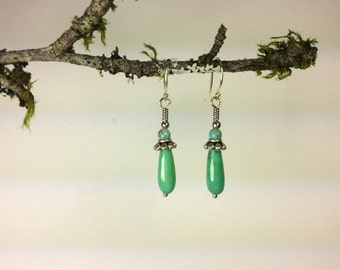 Aventurine and turquoise earrings