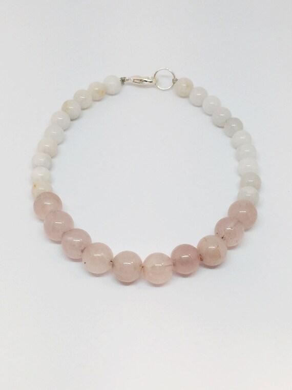 Rose Quartz Bracelet, Gemstone Bracelet, Gift For Her, Beaded Bracelet, Mala Bracelet, Yoga Bracelet, Meditation Bracelet, Boho Bracelet
