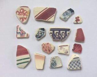 Pretty scottish sea pottery shards