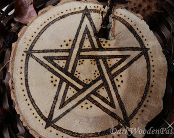 Magic pentacle wooden