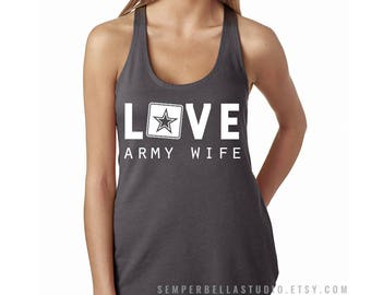 ARMY Love Racerback Tank,army,us army,army wife,army wives,wife,army tanks,army tops,army tees,us army tank,military wife,military tanks