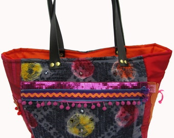"""Unique bag """"Greige"""": Gypsy Butterfly"""