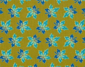 Handmade Table Runner 13W x 36L in Green and Blue Hawaiian Medallions, Home Decor, Ready To Ship