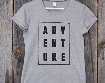 ADVENTURE (Fitted Women's T-shirt)