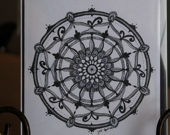 """MADE TO ORDER- 4 1/4"""" x 5 1/2"""" Blank Notecards with envelopes - From My Originial Zentangle Art."""