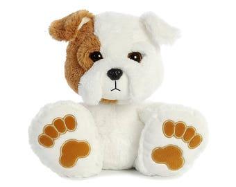 Personalized Keepsake Animal/Plush Bulldog/ Birth Announcement/ Personalized Birthday/ Personalized Baby Shower/ Plush Dog