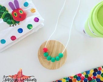 "Special Edition ""Very Hungry Caterpillar"" Necklace - Silicone Necklace (Women and Mums)"