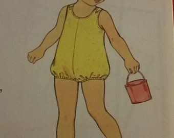Pattern for romper girls 4t /Vintage french 70's