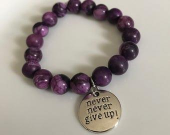 Never never give up energy bracelet!
