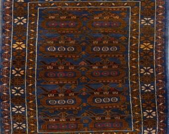Vintage Afghan tribal rug 100% wool