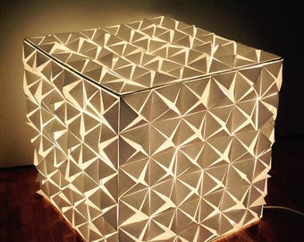 Lamp square white paper