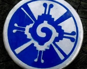 Blue Hunab Ku Metal Mini Marker