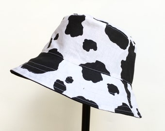 Cow Spot Print Bucket Sun Hat for Kids!