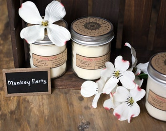 Soy Candle - Monkey Farts - Year Round Fragrance