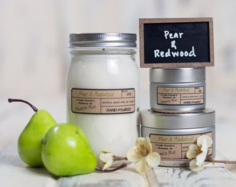 Soy Candle - Pear & Redwood - Spring Scents 2017