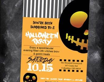 Halloween invitation printable, halloween party invitation, DIY halloween invitation, Kids Halloween Party Invitation