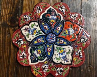 """7"""" inches Trivet ( Hand made and Hand painted )"""