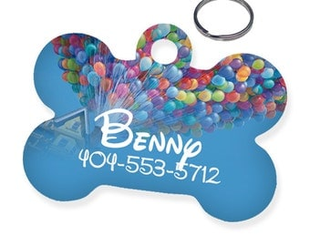 Disney UP Custom Personalized Pet Tag for Dog