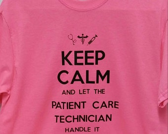 Patient care tech t shirt