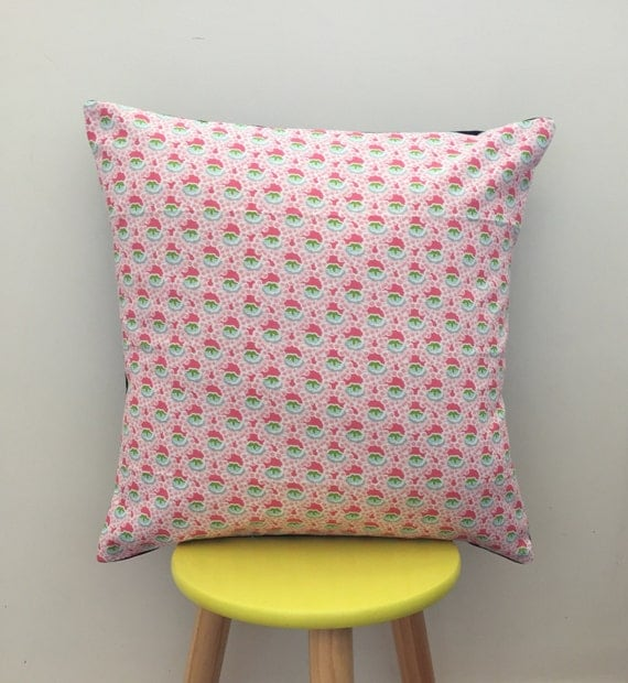 Geometric floral cushion cover. Good vibes only! 45cm x 45cm