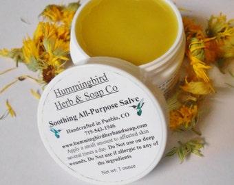 All Purpose Salve- Natural First Aid Balm-Herbal Salve-Organic Herbs