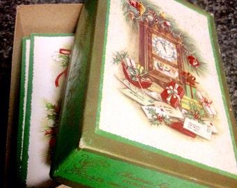 Vintage Christmas Cards/1979/Vintage ephemera/Christmas cards/Remembrance Christmas Evergreen/vintage Royal Quality/Vintage Craft supply