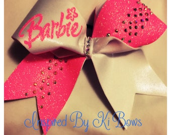 Barbie Cheer Bow Rhinestone Glitter