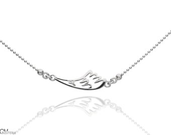 CELEBRITY - wing - delicate silver necklace