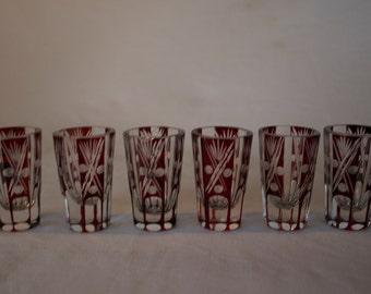 Vintage Shot Glasses - FREE SHIPPING!