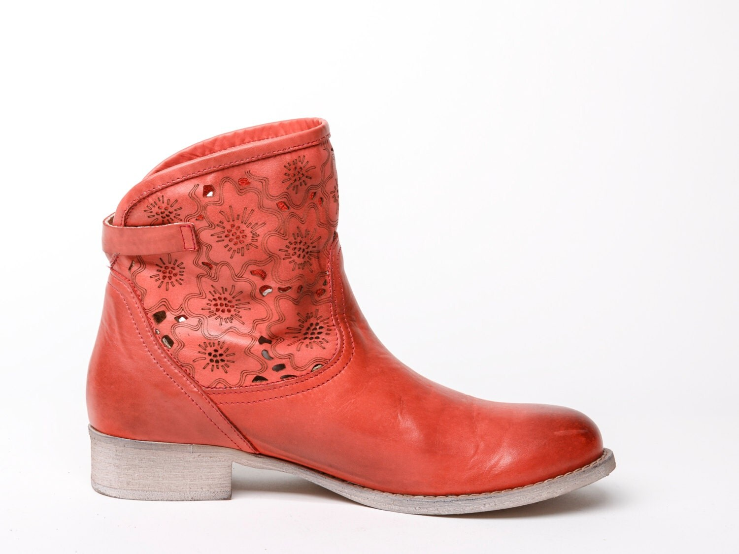 Cool Repetto Red Leather Boots For Women - @WOMENSHOES