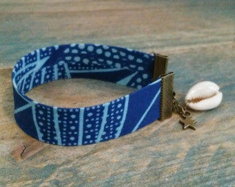 Bracelet Ribbon printed wax