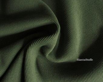 Rib fabric, olive, article 7440