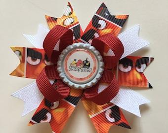 Angry Birds Hairbows- Angry Birds Bows- Angry Birds- Angry Birds Hairbow- Angry Birds Bow- The Angry Birds- Angry Birds Accessories-
